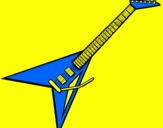 Disegno Chitarra elettrica II pitturato su ANDREA