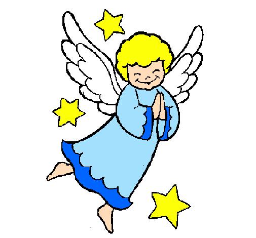 Disegno angioletto colorato da utente non registrato il 24 for Immagini da colorare di angeli