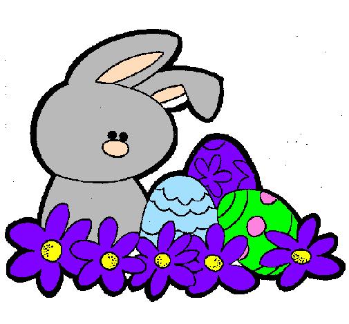 Disegno coniglietto di pasqua colorato da utente non - Lettere stampabili del coniglietto di pasqua ...