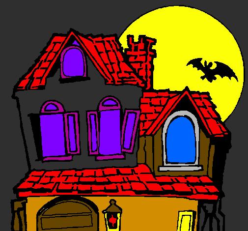 Disegno la casa del mistero colorato da utente non - Colorare la casa ...