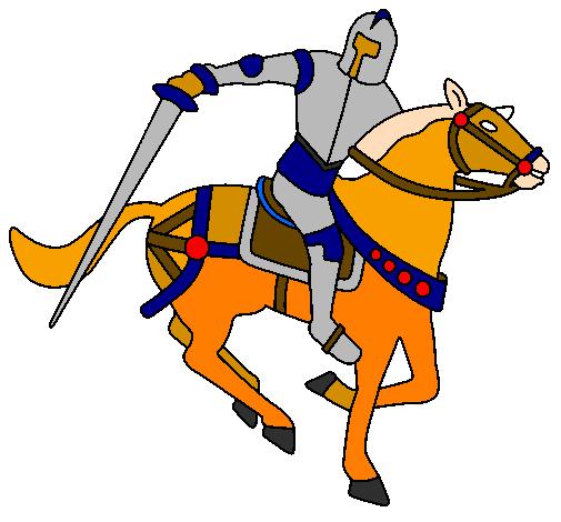 Disegno cavaliere a cavallo iv colorato da utente non - Cavaliere libro da colorare ...
