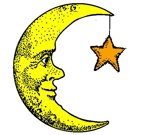 disegno luna e stelle colorato da utente non registrato il 26 di ... - Disegno Stella Colorate