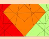Disegno Simmetria pitturato su sebastiano