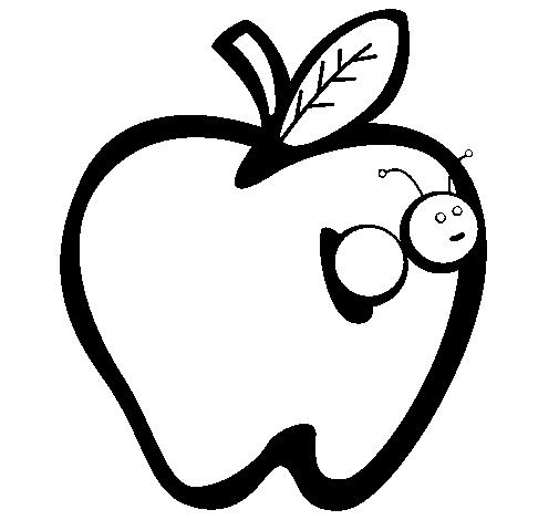 Disegno mela iii colorato da utente non registrato il 16 for Immagini da colorare bruco