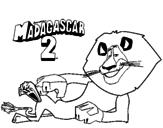 Disegno Madagascar 2 Alex pitturato su ben   10
