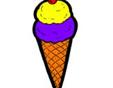 Disegno Cono di gelato  pitturato su grisù