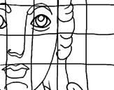 Disegno Mosaico romano  pitturato su susy