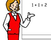 Disegno Professoressa di matematica  pitturato su maestra Lucia