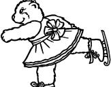 Disegno Orsa pattinatrice pitturato su claudia schillaci
