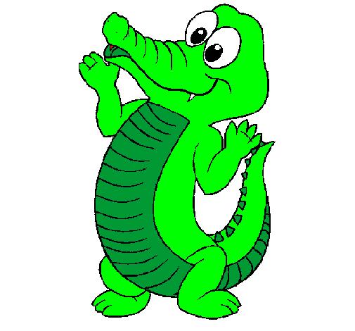 Disegno coccodrillo beb colorato da utente non registrato for Coccodrillo da colorare