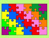 Disegno Puzzle pitturato su Brenda song