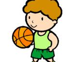 Disegno Giocatore di pallacanestro  pitturato su Marta