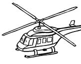 Disegno Elicottero   pitturato su Matteo