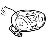 Disegno Radio cassette pitturato su stereo