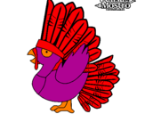 Disegno Guajardo pitturato su edoardo
