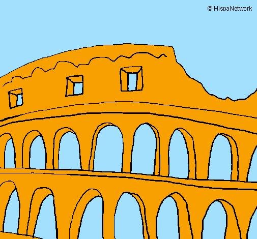 Disegno colosseo colorato da utente non registrato il 31 for Colosseo da colorare