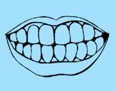 Disegno Bocca e denti  pitturato su michael