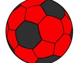 Disegno Pallone da calcio II pitturato su palla del milan