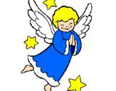 Disegno Angioletto pitturato su francesca