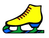 Disegno Pattino pitturato su pattini sul ghiaccio