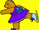 Disegno Orsa pattinatrice pitturato su da : MARIACHIARA