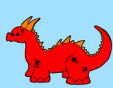 Disegno Bebè drago pitturato su dinoforz