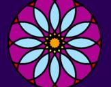 Disegno Mandala 38 pitturato su Rosone