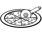 Disegno Pizza pitturato su alice pezzogno