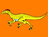 Disegno Velociraptor  pitturato su coccosauro