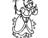 Disegno Fata madrina pitturato su manuela  pennacchio