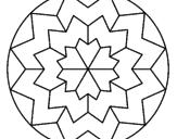 Disegno Mandala 29 pitturato su mandala colori caldi