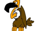 Disegno Avvoltoio  pitturato su stefo