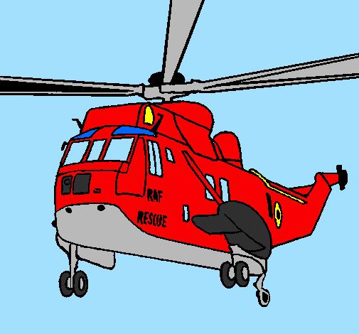 Elicottero Sam Il Pompiere : Disegno elicottero di salvataggio colorato da utente non