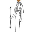Disegno Hathor pitturato su susy