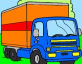 Disegno Camion  pitturato su SCANIA .R.620