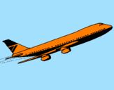 Disegno Aereo in volo  pitturato su ilaria