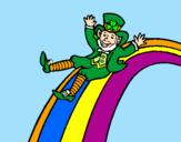 Disegno Folletto nell'arcobaleno  pitturato su Mirko