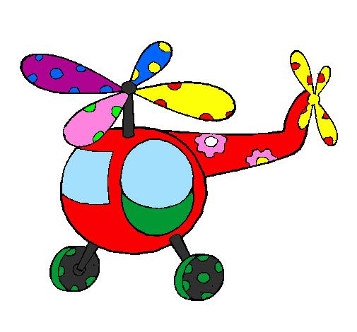 Elicottero Bambini : Disegno elicottero decorato colorato da utente non