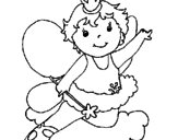 Disegno Fata  pitturato su sarah
