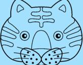 Disegno Gatto II pitturato su òà ù