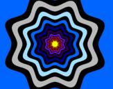Disegno Mandala 46 pitturato su sara