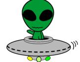 Disegno Alieno pitturato su sono     uno   alieno