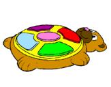 Disegno Simone sotto forma di orso pitturato su rebecca