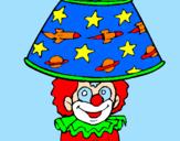 Disegno Pagliaccio lampada pitturato su marty the best