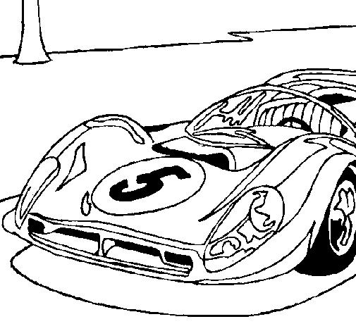 Disegno auto numero 5 colorato da utente non registrato il for Disegni da colorare macchine cars