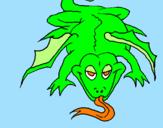 Disegno Lucertola mutante  pitturato su neni