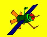 Disegno Satellite  pitturato su enrico