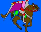 Disegno Cavaliere a cavallo IV pitturato su cavalieri mortali
