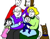 Disegno Famiglia pitturato su famiglia