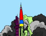 Disegno Lancio di un razzo  pitturato su :) eleonora